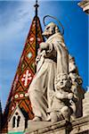 Close-Up of Trinity Statue, Matthias Church, Castle Hill, Budapest, Hungary Stock Photo - Premium Rights-Managed, Artist: R. Ian Lloyd, Code: 700-05609854