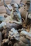 Detail of Statues, Hofburg Palace, Vienna, Austria