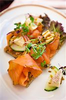 smoked - Smoked Salmon, Cafe Sacher, Vienna, Austria Stock Photo - Premium Rights-Managednull, Code: 700-05609936