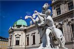 Statue in front of Belvedere Palace, Vienna, Austria