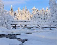 Bridge over Kitkajoki River, Kuusamo, Northern Ostrobothnia, Finland Stock Photo - Premium Royalty-Freenull, Code: 600-05610026