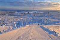 Ski Lift, Rukatunturi, Kuusamo, Northern Ostrobothnia, Finland Stock Photo - Premium Royalty-Freenull, Code: 600-05610057
