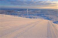 Ski Run, Rukatunturi, Kuusamo, Northern Ostrobothnia, Finland Stock Photo - Premium Royalty-Freenull, Code: 600-05610059