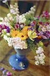 Flower bouquet with larkspur, pot marigold and stocks Stock Photo - Premium Royalty-Freenull, Code: 689-05610193