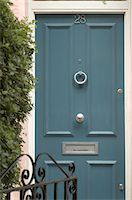 Closed front door Stock Photo - Premium Royalty-Freenull, Code: 689-05610316