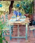 Laid table on a terrace Stock Photo - Premium Royalty-Free, Artist: Harald Vorsteher, Code: 689-05610393