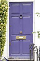Closed front door Stock Photo - Premium Royalty-Freenull, Code: 689-05610403
