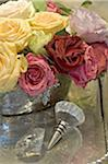 Colorful bunch of roses Stock Photo - Premium Royalty-Freenull, Code: 689-05610633