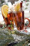 Two glasses with hot drinks and fir branches Stock Photo - Premium Royalty-Free, Artist: Cusp and Flirt, Code: 689-05610636