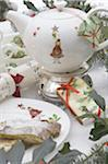 Festive table with teapot and Stollen Stock Photo - Premium Royalty-Free, Artist: foodanddrinkphotos, Code: 689-05610761