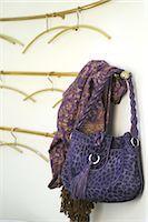 Lilac handbag with leopard print Stock Photo - Premium Royalty-Freenull, Code: 689-05610904