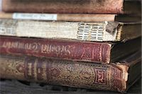 Stack of old books Stock Photo - Premium Royalty-Freenull, Code: 689-05611039
