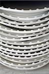 Stack of plates Stock Photo - Premium Royalty-Freenull, Code: 689-05611653