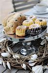 Cake on cakestand Stock Photo - Premium Royalty-Freenull, Code: 689-05611822
