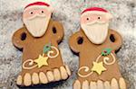 Two Christmas gingerbread men Stock Photo - Premium Royalty-Freenull, Code: 689-05612063
