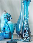 Blue handicraft objects Stock Photo - Premium Royalty-Freenull, Code: 689-05612077
