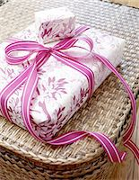 Wrapped gift Stock Photo - Premium Royalty-Freenull, Code: 689-05612374