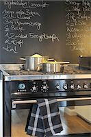 stove - Two pots on cooker Stock Photo - Premium Royalty-Freenull, Code: 689-05612405