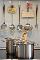 stove - Two pots on cooker Stock Photo - Premium Royalty-Freenull, Code: 689-05612412