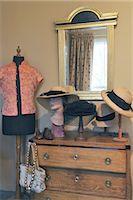 Ladieswear at dresser with mirror Stock Photo - Premium Royalty-Freenull, Code: 689-05612440