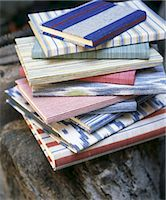 Stack of books with colorful covers Stock Photo - Premium Royalty-Freenull, Code: 689-05612651