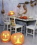 Table decoration for Halloween Stock Photo - Premium Royalty-Free, Artist: Raimund Linke, Code: 689-05612658