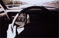 Hand on Steering Wheel Stock Photo - Premium Royalty-Freenull, Code: 6106-05618213