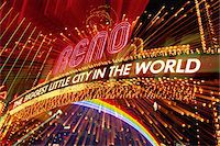represented - USA, Nevada, Reno, 'The Biggest Little City in the World' neon sign Stock Photo - Premium Royalty-Freenull, Code: 6106-05620931