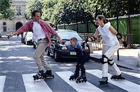 roller skate - Family Inline Skating Stock Photo - Premium Royalty-Freenull, Code: 6106-05624682