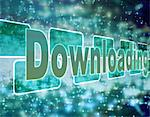 'Downloading' on starry background Stock Photo - Premium Royalty-Free, Artist: Rick Fischer             , Code: 6106-05627370