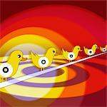 Sitting Ducks Stock Photo - Premium Royalty-Free, Artist: Glowimages               , Code: 6106-05627571