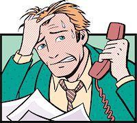 sweaty businessman - Overworked Businessman Stock Photo - Premium Royalty-Freenull, Code: 6106-05627594