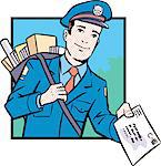 Postman Stock Photo - Premium Royalty-Free, Artist: Ikon Images, Code: 6106-05627624