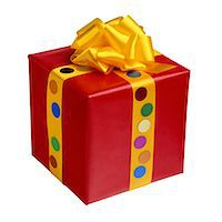 present wrapped close up - Gift Stock Photo - Premium Royalty-Freenull, Code: 6106-05628447