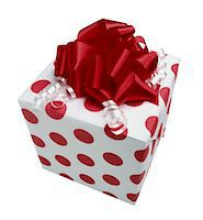 present wrapped close up - Gift Stock Photo - Premium Royalty-Freenull, Code: 6106-05628451