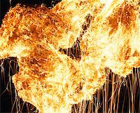 exploding - Fire abstract Stock Photo - Premium Royalty-Freenull, Code: 6106-05630409