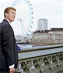 Businessman on Westminster Bridge, smiling Stock Photo - Premium Royalty-Free, Artist: Arian Camilleri          , Code: 6106-05630838