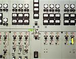 Control panel with gauges and knobs in electrical substation, close-up Stock Photo - Premium Royalty-Free, Artist: Matthias Kulka, Code: 6106-05631325