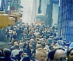 Crowded sidewalk, New York City, New York, USA (video still) Stock Photo - Premium Royalty-Freenull, Code: 6106-05640694