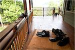 Shoes on Porch, Wedding, Muskoka, Ontario, Canada Stock Photo - Premium Royalty-Free, Artist: Ikonica, Code: 600-05641652