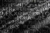 Metal Letterpress Stock Photo - Premium Rights-Managednull, Code: 700-05641665