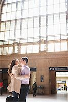 Couple Kissing in Train Station Stock Photo - Premium Rights-Managednull, Code: 700-05641787