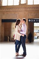 Couple Kissing in Train Station Stock Photo - Premium Rights-Managednull, Code: 700-05641789