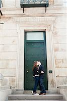 Couple Kissing in front of Door Stock Photo - Premium Rights-Managednull, Code: 700-05641792