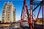NV Buildings and Detroit Bridge, Salford Quays, Greater Manchester, England Stock Photo - Premium Rights-Managed, Artist: Jason Friend, Code: 700-05641997