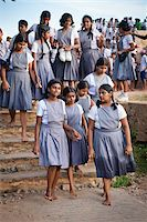 Schoolgirls Touring Galle Fort, Galle, Sri Lanka Stock Photo - Premium Rights-Managednull, Code: 700-05642126