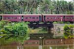 Passenger Train Crossing Bridge, Ahangamo, Sri Lanka Stock Photo - Premium Rights-Managed, Artist: R. Ian Lloyd, Code: 700-05642141