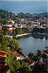 Overview of Lake and City, Kandy, Sri Lanka