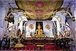 Buddha Statue inside Temple of the Tooth during Kandy Perehera Festival, Kandy, Sri Lanka Stock Photo - Premium Rights-Managed, Artist: R. Ian Lloyd, Code: 700-05642275