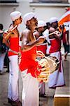 Drummers inside Temple of the Tooth during Kandy Perehera Festival, Kandy, Sri Lanka Stock Photo - Premium Rights-Managed, Artist: R. Ian Lloyd, Code: 700-05642276